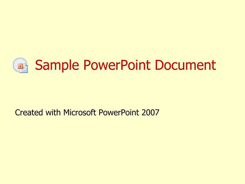 sample powerpoint document l.
