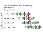 data hazard even with forwarding figure 3 12 page 153