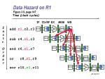 data hazard on r1 figure 3 9 page 147