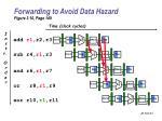 forwarding to avoid data hazard figure 3 10 page 149