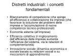 distretti industriali i concetti fondamentali