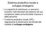 sistema produttivo locale e sviluppo endogeno