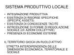 sistema produttivo locale
