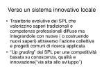 verso un sistema innovativo locale