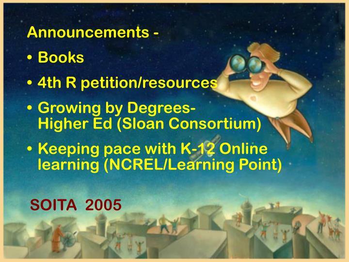 Announcements -