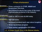 10 years of achievement11