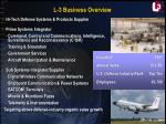l 3 business overview