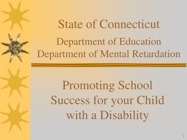 state of connecticut department of education department of mental retardation n.