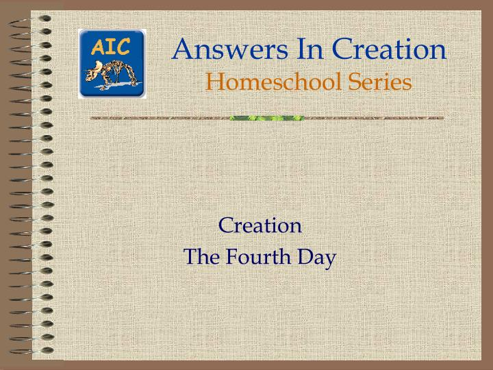 Answers in creation homeschool series