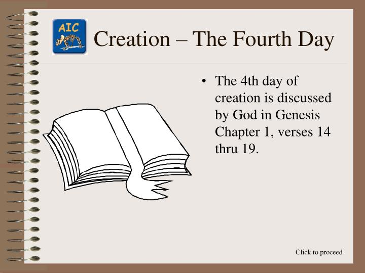 Creation the fourth day