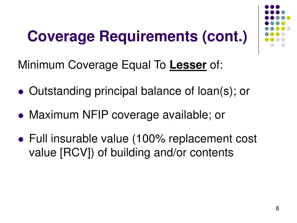Coverage Requirements (cont.)