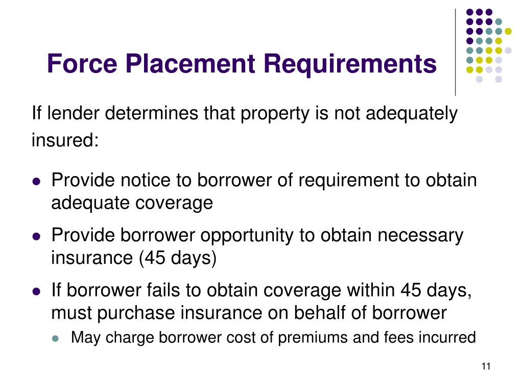 Force Placement Requirements