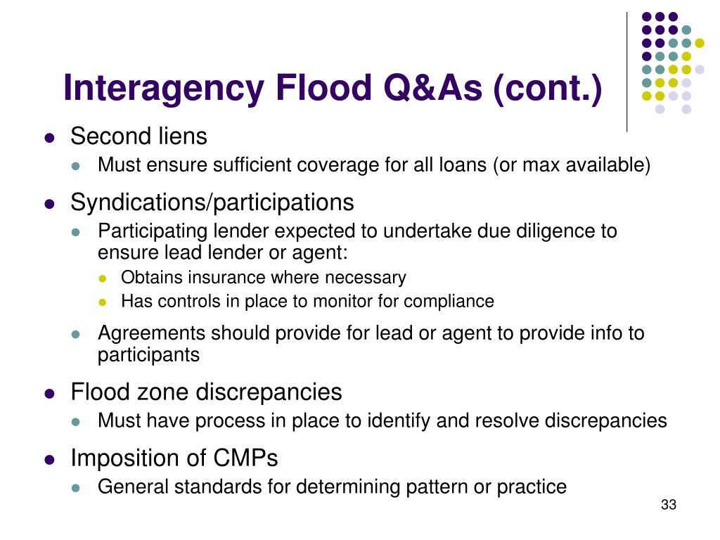 Interagency Flood Q&As (cont.)