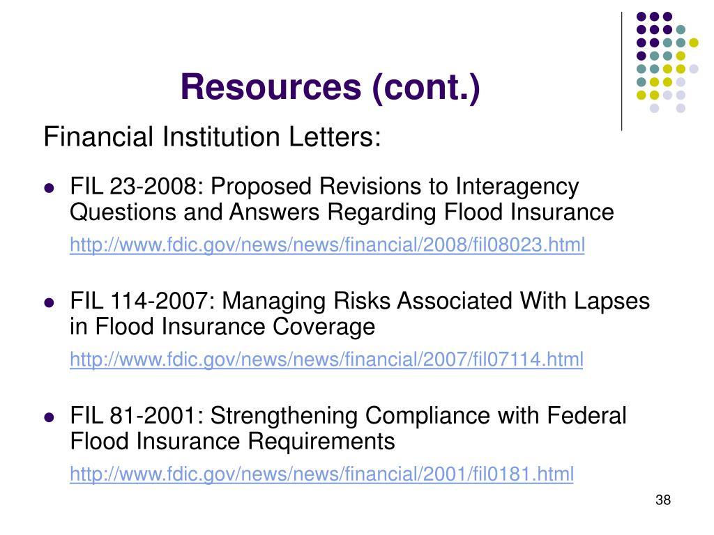 Resources (cont.)