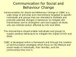 communication for social and behaviour change