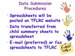 data submission procedures