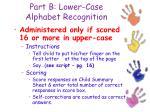 part b lower case alphabet recognition