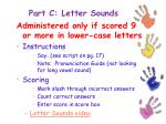 part c letter sounds