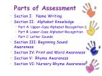 parts of assessment