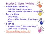 section i name writing