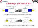 advantage of condo fiber