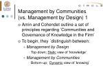 management by communities vs management by design 1