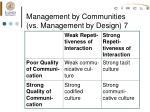 management by communities vs management by design 7