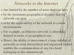 networks in the internet