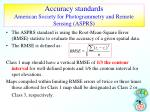 accuracy standards american society for photogrammetry and remote sensing asprs