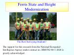 ferris state and height modernization