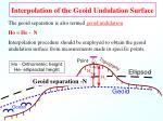 interpolation of the geoid undulation surface