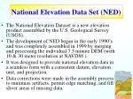 national elevation data set ned