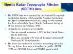 shuttle radar topography mission srtm data