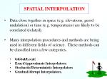 spatial interpolation24