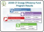 2008 ct energy efficiency fund program results