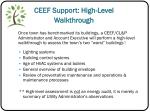 ceef support high level walkthrough