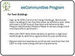 eecommunities program
