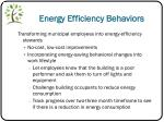 energy efficiency behaviors