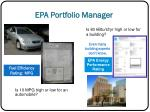 epa portfolio manager