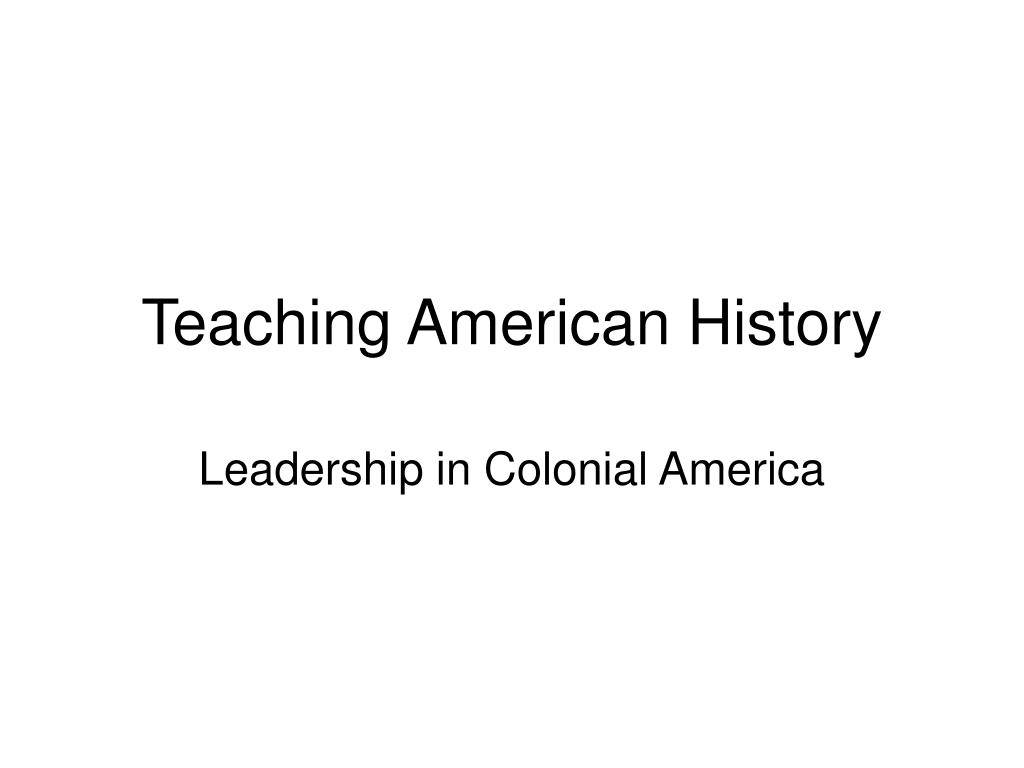teaching american history l.