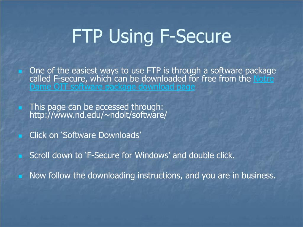 FTP Using F-Secure