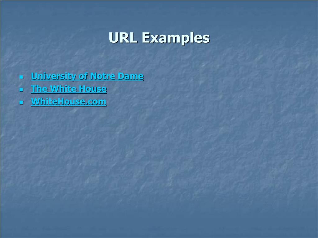 URL Examples