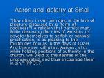aaron and idolatry at sinai