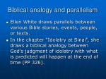 biblical analogy and parallelism