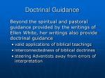 doctrinal guidance