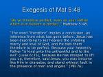 exegesis of mat 5 48