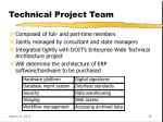 technical project team