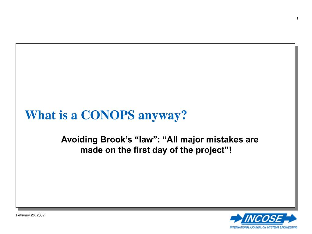 what is a conops anyway l.