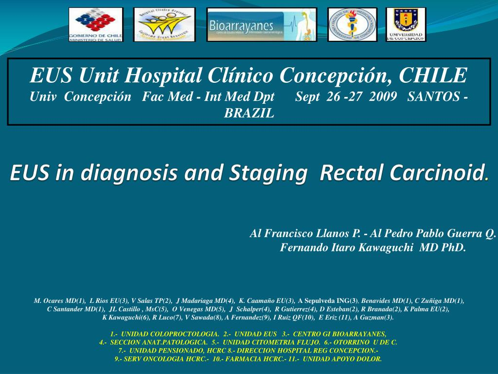 eus in diagnosis and staging rectal carcinoid l.