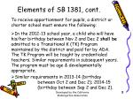 elements of sb 1381 cont